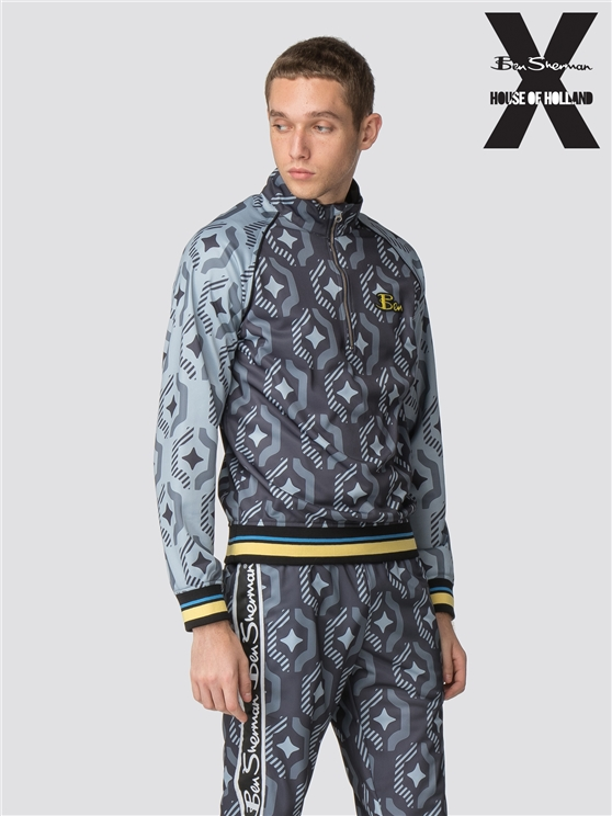 Ben Sherman X House of Holland Wallpaper Print Tracksuit Top