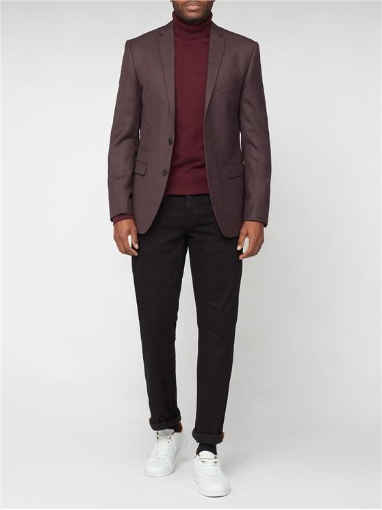 Merlot Flannel Slim Fit Suit