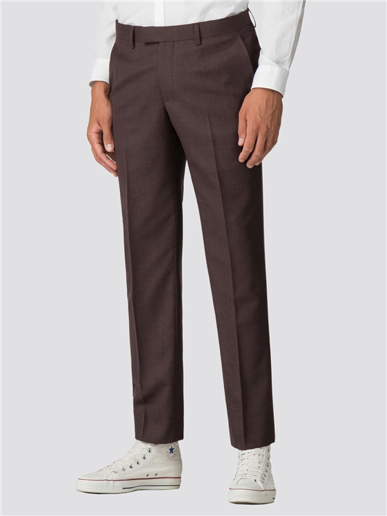 MERLOT PLANNEL SLIM TROUSER