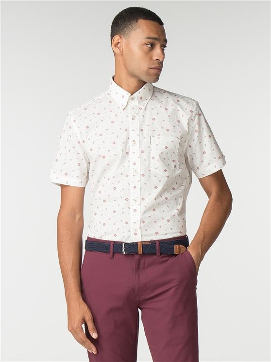 Short Sleeve Rose Scatter Shirt