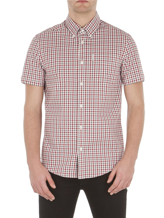 Short Sleeve House Gingham Shirt- currently unavailable