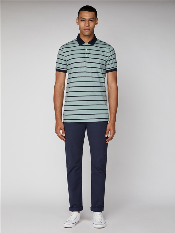 Honeycomb Stripe Polo