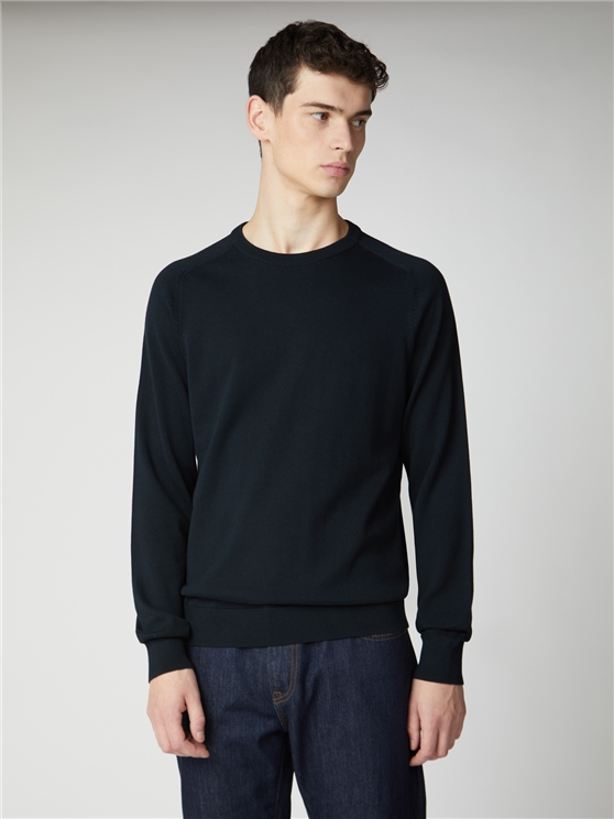 CORE COTTON KNITTED CREW NECK