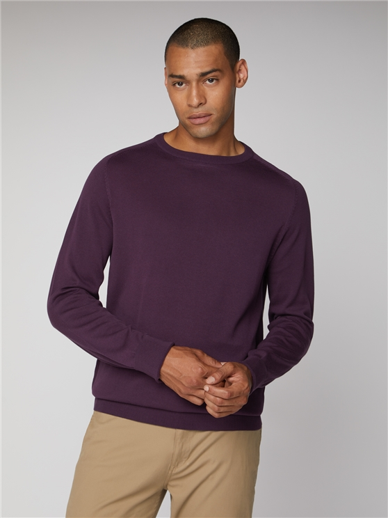Cotton Knitted Crew Neck