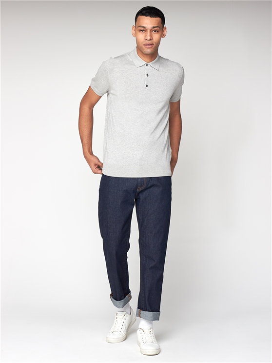 Grey Knitted Polo