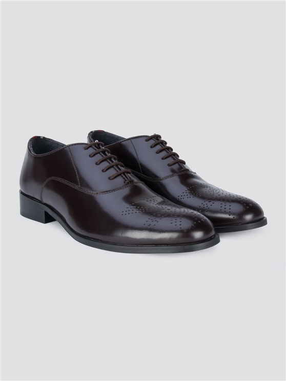 Wine Red Totti Formal Lace Shoes