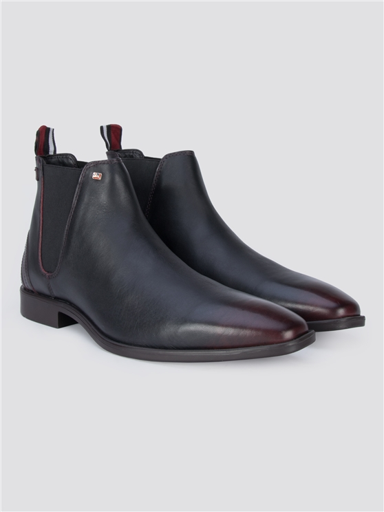 Wine Red Rod Chelsea Boots
