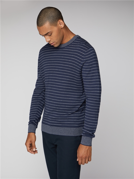 Fine Stripe Crew Neck Jumper