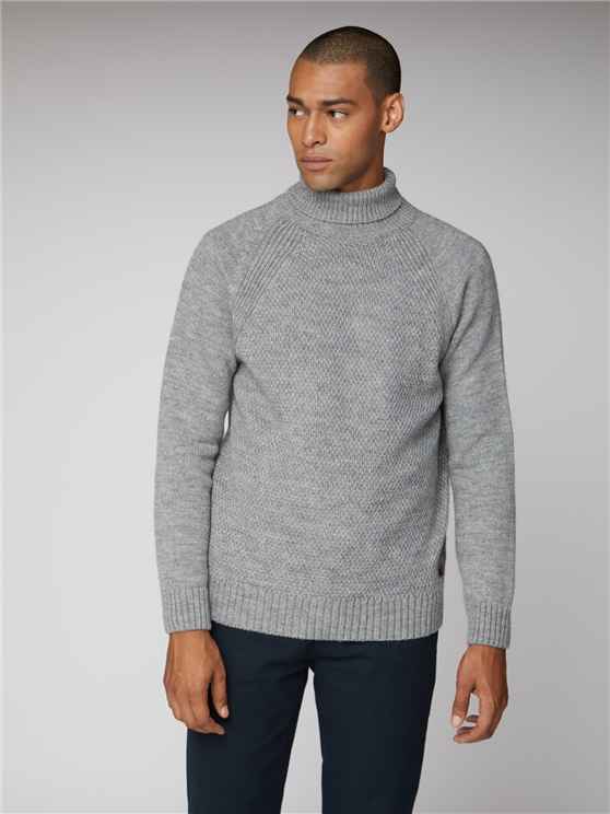 Heavy Knit Roll Neck
