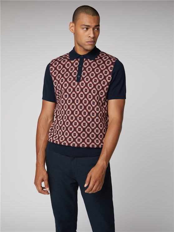 Pattern Front Polo