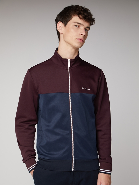 Zip Colour Block Track Top