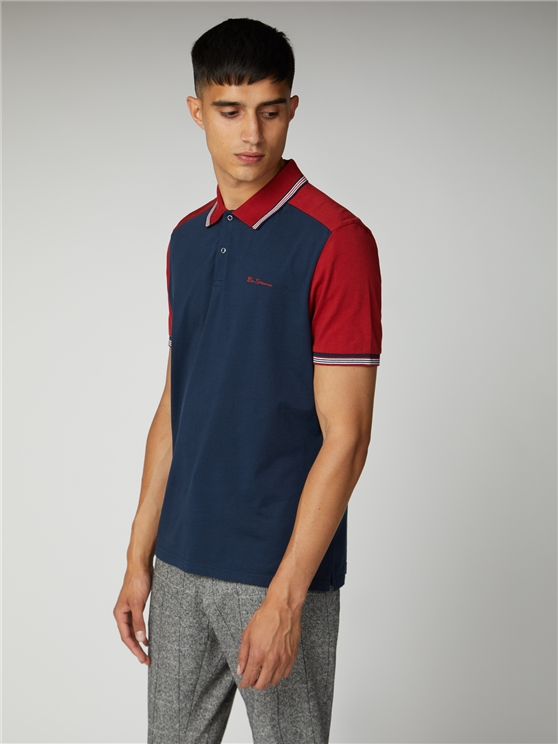 Cut and Sew Block Polo
