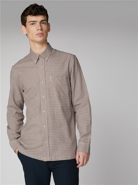 Long Sleeve Brushed Gingham Shirt