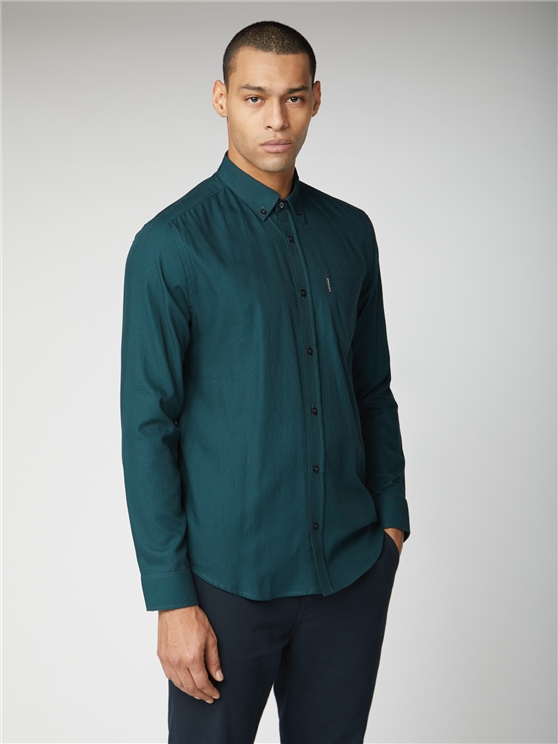 Long Sleeve Puppytooth Shirt