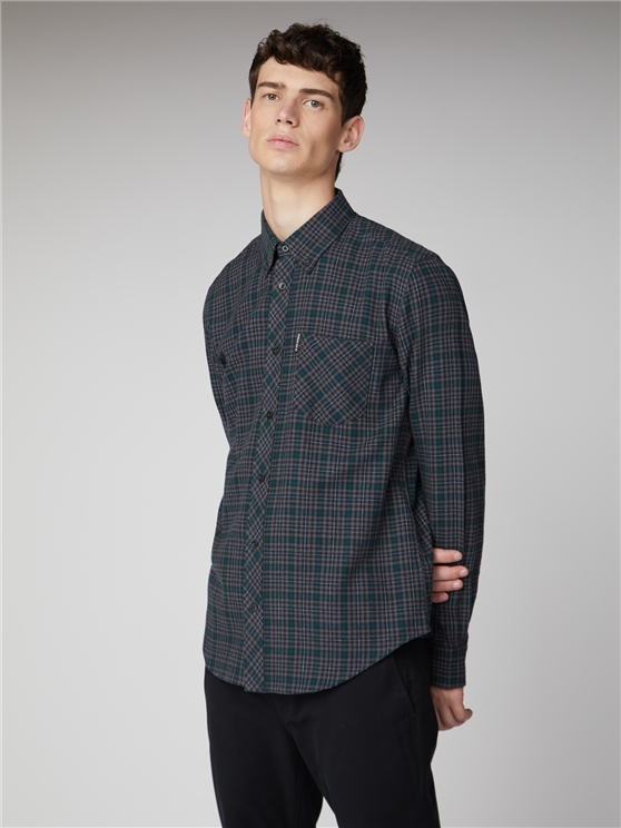 LS BRUSHED CHECK SHIRT