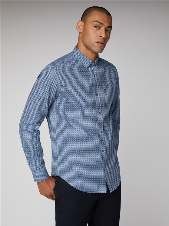 Oxford Retro Print Shirt