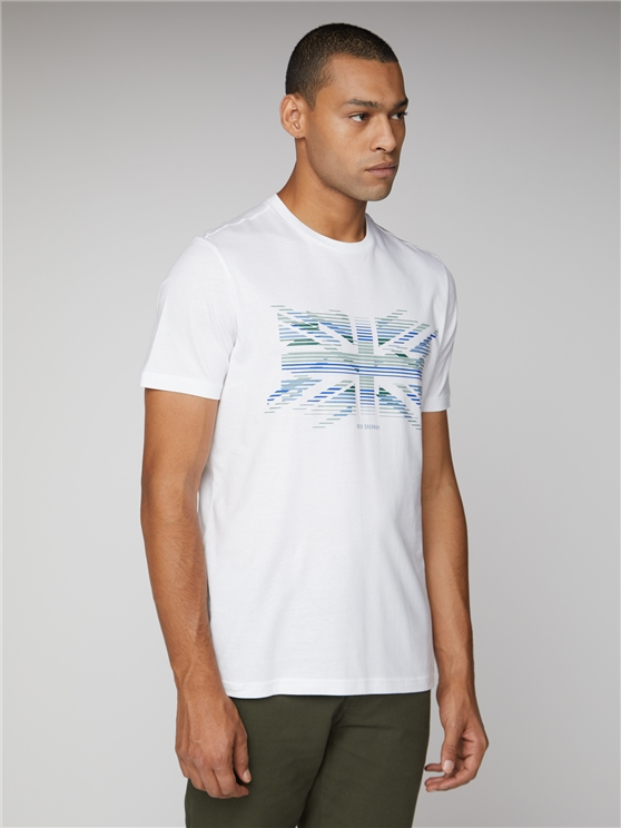 Union Jack Stripe Graphic T-Shirt
