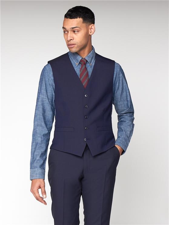 Navy Blue Tonic Camden Waistcoat