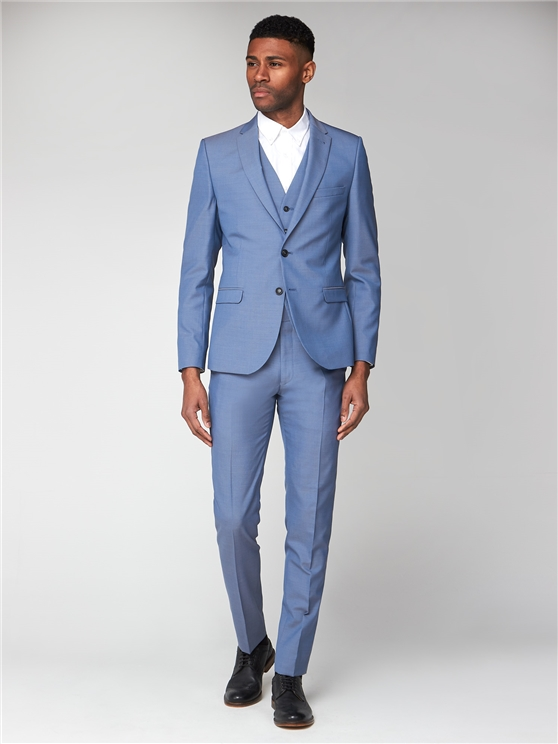 Smoke Blue Tonic Camden Three Piece Suit