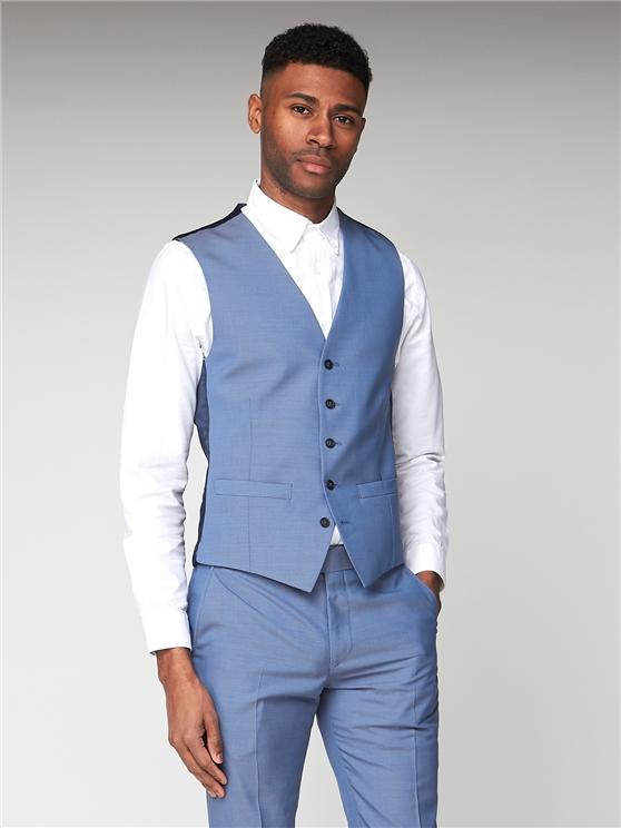 Smoke Blue Tonic Camden Waistcoat