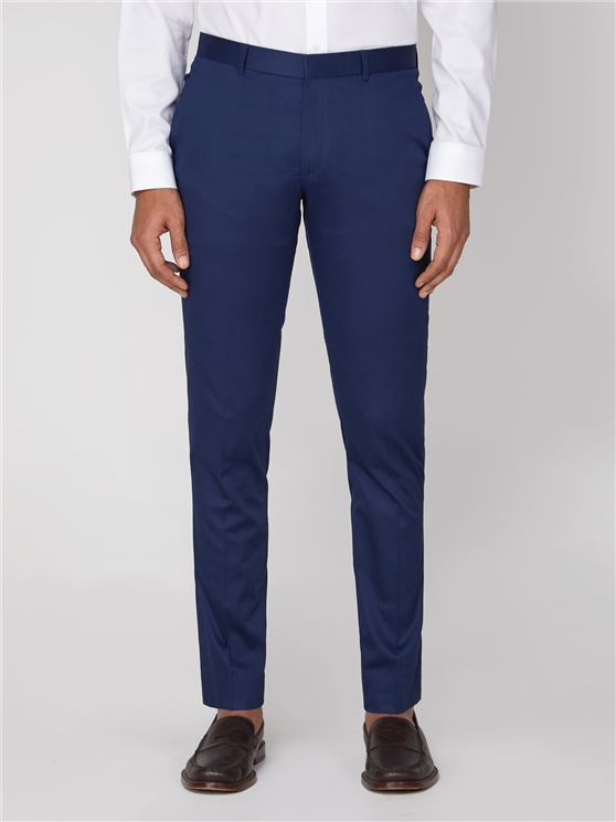 Blue Cotton Camden Trouser