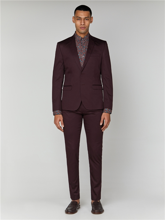 Burgundy Cotton Camden Suit