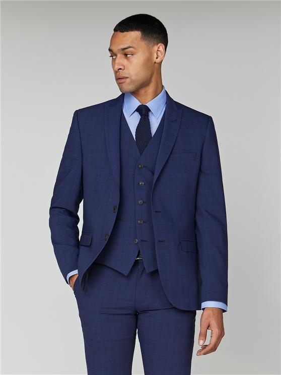 Sapphire Check Stretch Camden Jacket
