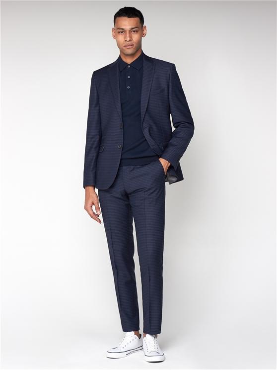 British Deep Blue Gingham Suit