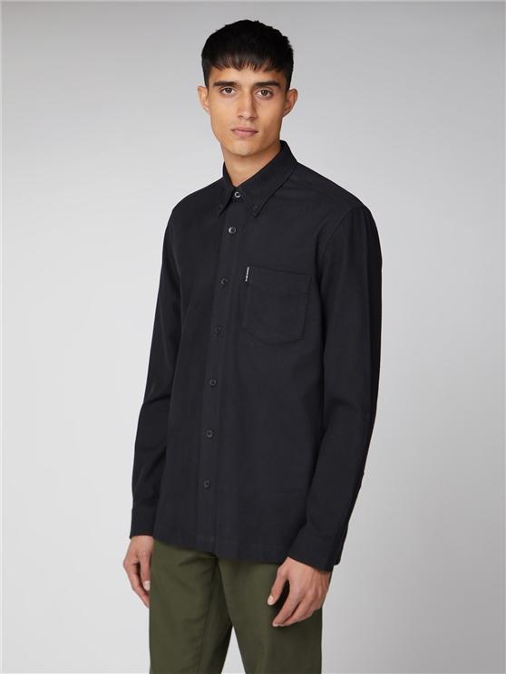 Long Sleeve Texture Overshirt
