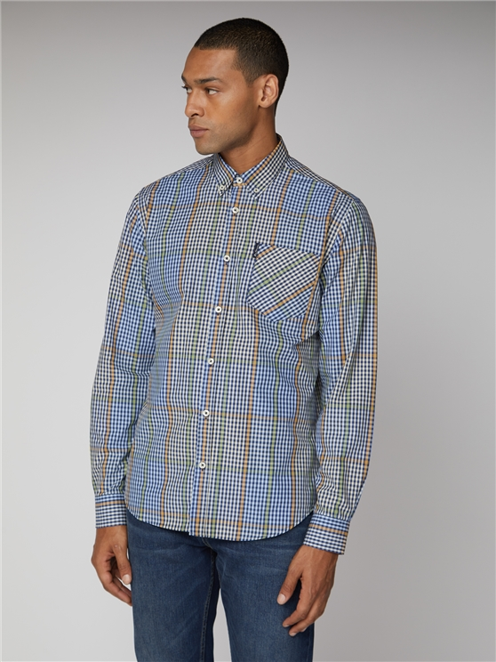 Blocked Gingham Shirt