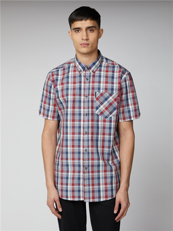 Placed Gingham Shirt