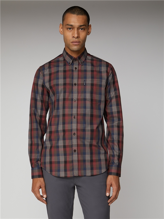 Blocked Fine Check Shirt
