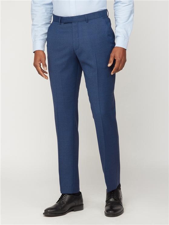 Deep Blue Athletic Fit Suit Trouser
