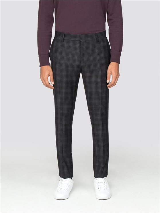 Grey Checked Camden Fit Trouser