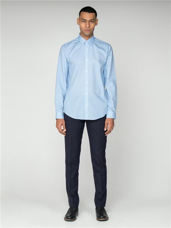 Long Sleeve Twill Gingham Shirt