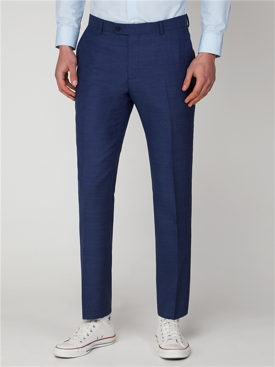 Blue Jaspe Slim Fit Suit Trouser