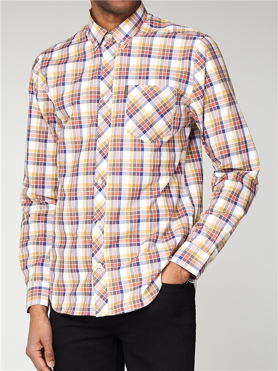 Multi Colour Check Long Sleeve Shirt