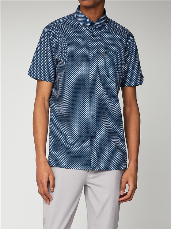 Apple Print Short Sleeve Mod Fit Shirt