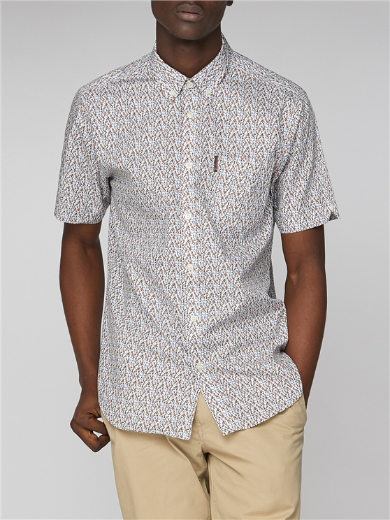 Two Floral Print Short Sleeve Shirt