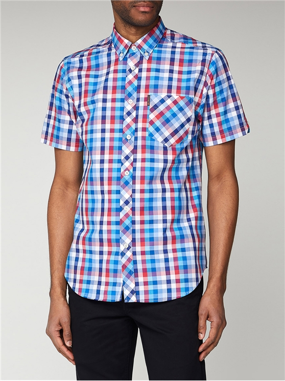 Large Scale Gingham Short Sleeve Shirt