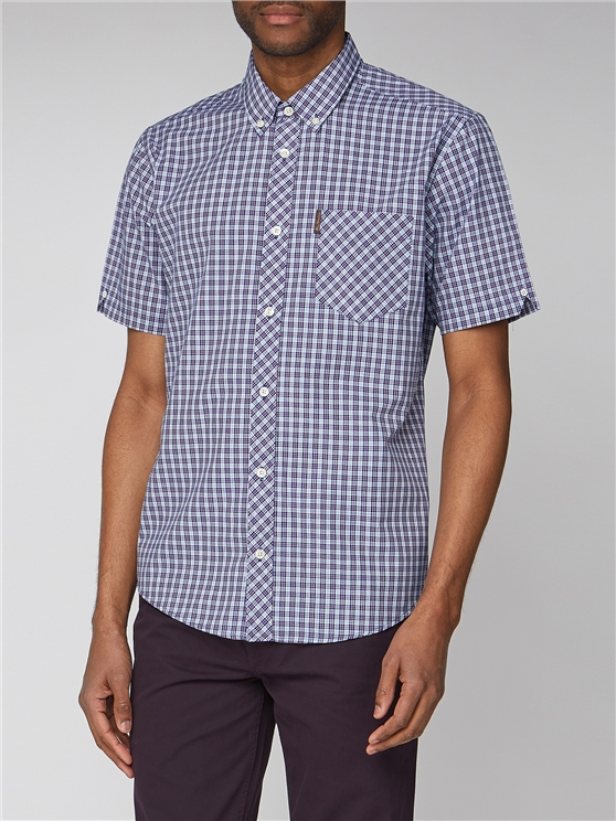 Short Sleeve Micro Check Shirt