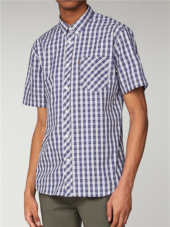 3 Colour Check Short Sleeve Shirt