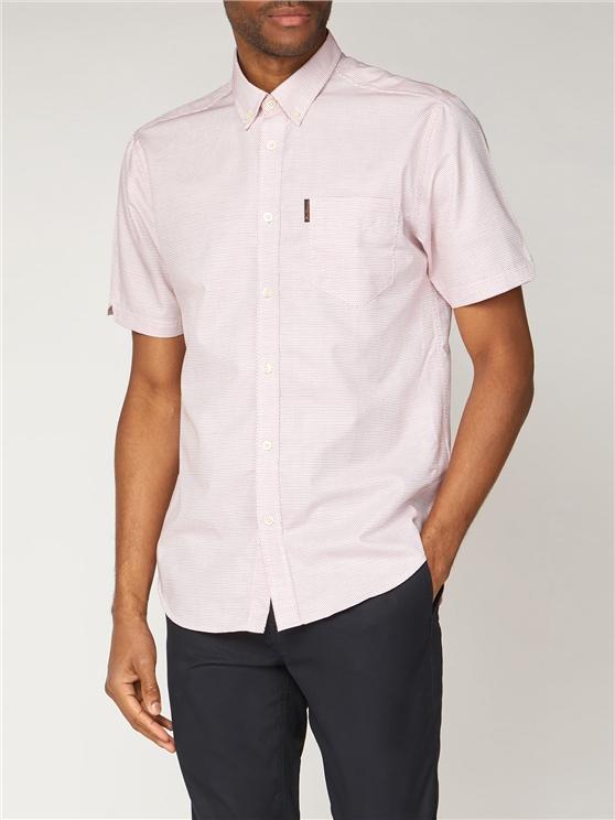 Spot Poplin Short Sleeve Shirt