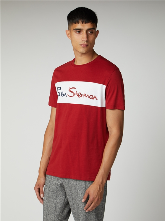 Sports Cut and Sew Branded T-Shirt