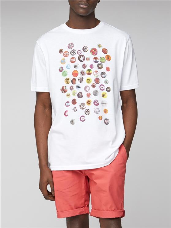 Pin Badge Graphic T-Shirt
