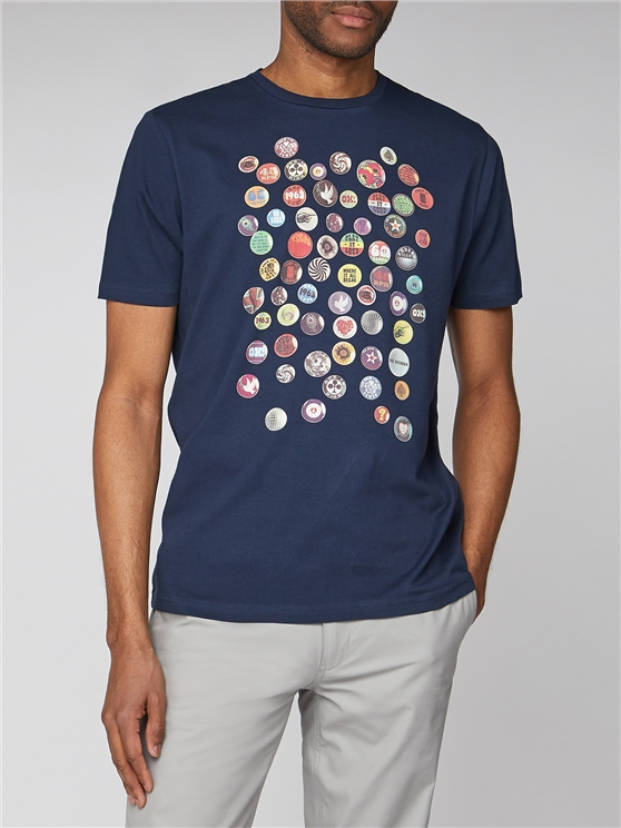Pin Badge Graphic T-Shirt