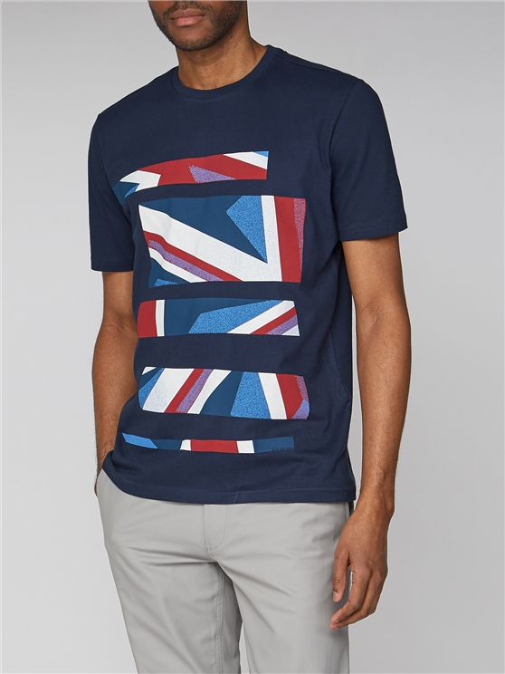 Union Jack Stripe Graphic T