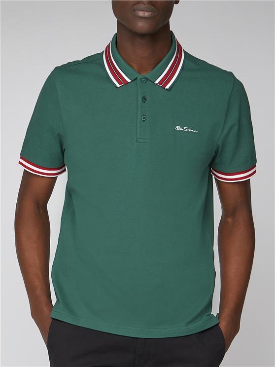 Plain Polo With Stripe Collar