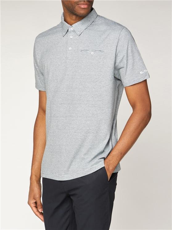 Fine Stripe Jersey Polo Shirt