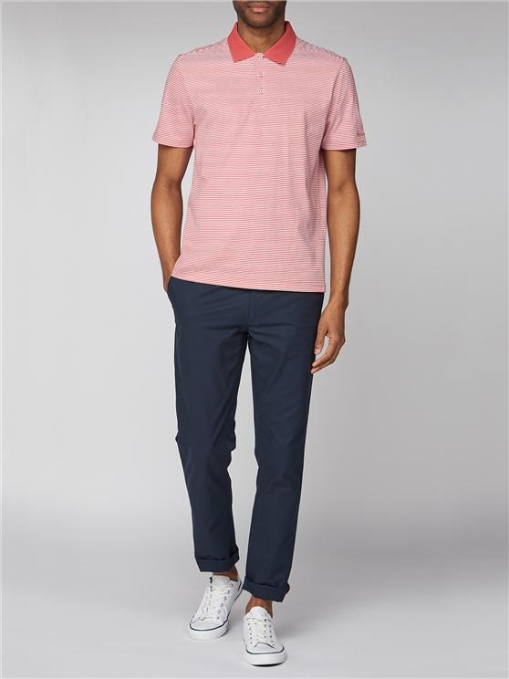 Fine Stripe Jersey Polo